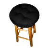 Cotton Duck Black Barstool Cover with Cushion and Adjustable Yoke