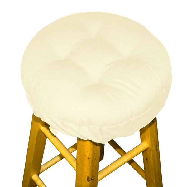 Cotton Duck Natural Barstool Cover with Cushion and Adjustable Yoke