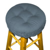 Cotton Duck Bluebell Barstool Cover with Cushion and Adjustable Yoke