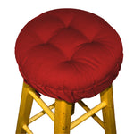 Cotton Duck Flame Red Barstool Cover with Cushion and Adjustable Yoke