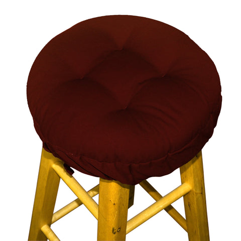 Cotton Duck Wine Red Barstool Pad | Barnett Home Decor | Red