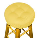 Cotton Duck Yellow Barstool Cover with Cushion and Adjustable Yoke