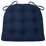 Cotton Duck Navy Blue Solid Color Dining Chair Pads - Barnett Home Decor - Navy Blue