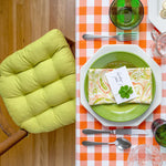Cotton Duck Pear Green Solid Color Dining Chair Cushions | Barnett Home Decor | Pear Green