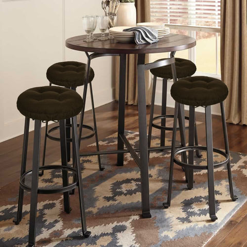 Corduroy Pinwale Slate Blue Bar Stool Cover | Barnett Home Decor | Slate Blue