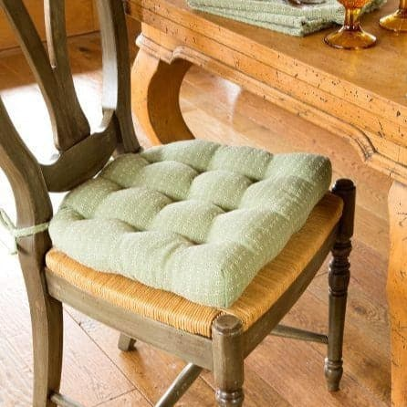 Mountain Weave Sage Green Chair Pads   Latex Foam Fill   Reversible