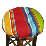 Westport Red Cabana Stripe Bar Stool Cover with Cushion - Barnett Home Decor