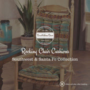 Southwest Phoenix Sunset Rocking Chair Cushions - Latex Foam Fill
