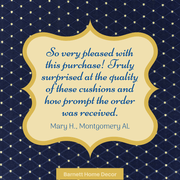 Tiffany Navy Blue Brocade Dining Chair Cushion Customer Testimonial