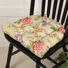 Lili Floral Chair Pad Dining Chair Pad - Latex Foam Fill