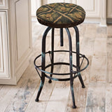 Wilderness Green Pinecone Bar Stool Cover with Cushion and Adjustable Drawstring Yoke