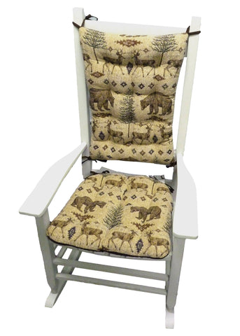 Wilderness Ottawa Rocking Chair Cushions - Latex Foam Fill