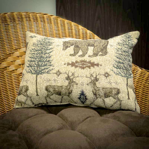 Wilderness Ottawa Decorative Pillow - Lodge Decor Lumbar Pillow
