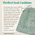 Brisbane Boucle Sea Glass Aqua Dining Chair Cushion Customer Testimonial