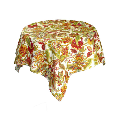 "Valbella Multi Floral Table Cloth - 52"" Square - Multi"
