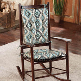 Southwest Moonstruck Rocking Chair Pads - Barnett Home Decor - Turquoise, Grey, & Black