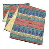 Southwest Phoenix Sunset Table Runners - Lined with Microfiber Ultrasuede in Camel