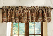 Southwest Durango Spice Valance - Straight Tailored Window Treatment
