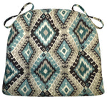 Southwest Moonstruck Dining Chair Cushions - Barnett Home Decor - Turquoise, Grey, & Black