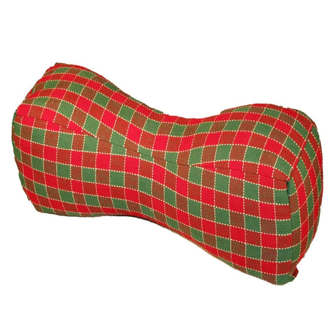 Travel Buddy Neck Support Pillow in Checkers Red & Green