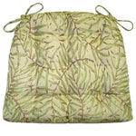 San Marino Palm Green Dining Chair Cushion - Barnett Home Decor - Green