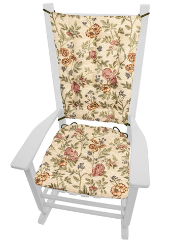 La Bella Rocking Chair Cushion Set - Latex Foam Fill - Multi