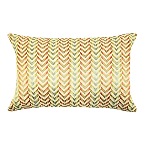 "Zig Zag 14"" Square Decorative Pillow or Lumbar Pillow"