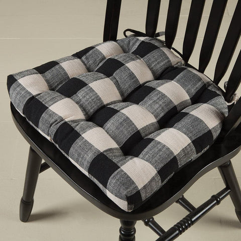 Pastoral Buffalo Check Chair Pad Dining Chair Pad Latex Foam Fill Barnett Home Decor