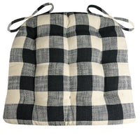 Buffalo Check Black & White Dining Chair Cushions - Barnett Home Decor - Black & White