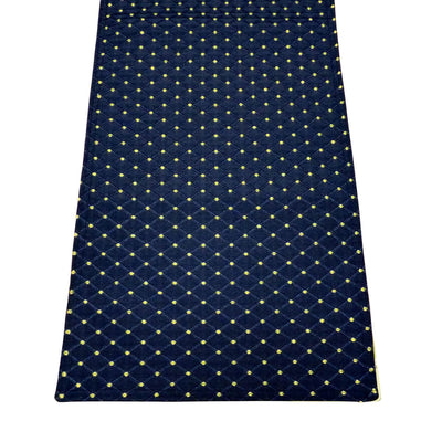 Tiffanie Navy Blue Brocade Table Runner | Barnett Home Decor