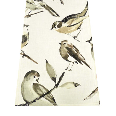 Song Bird Natural Linen Table Linen | Barnett Home Decor