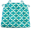 Fulton Ogee Aqua Indoor / Outdoor Dining Chair Pads & Patio Cushions