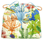 Splish Splash Indoor/Outdoor Dining Chair Cushion - Barnett Home Decor - Green, Blue, Red, & Orange
