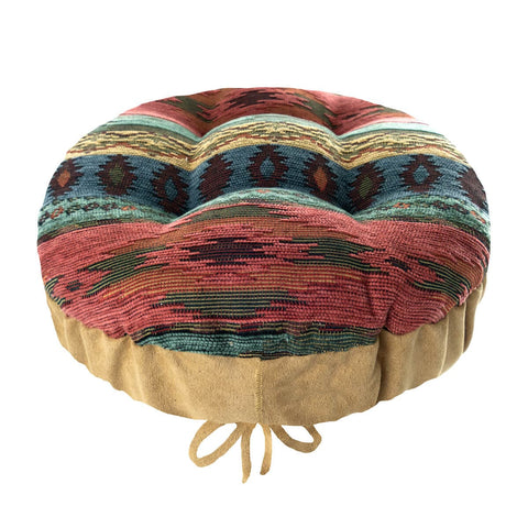 Southwest Phoenix Sunset Bar Stool Cover | Barnett Home Decor | Turquoise, Sage, & Salmon Pink