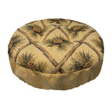 Wilderness Pinecone Beige Bar Stool Cover with Cushion and Adjustable Drawstring Yoke