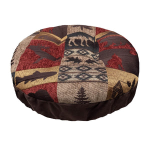 Woodlands Fairbanks Bar Stool Cover with Cushion and Adjustable Drawstring Yoke