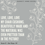 Benson Grey Dining Chair Cushion Customer Testimonial