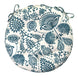 "Sylvan Teal Bistro Chair Pad - 16"" Round Cushion with Ties - Indoor / Outdoor 1"