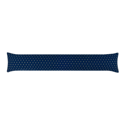 Tiffany Navy Blue Breeze Blocker Draft Stopper Noodle Pillow