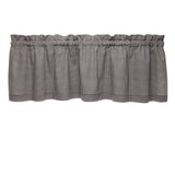 Madrid Black Gingham Cafe Valances - Straight Tailored Window Treatments