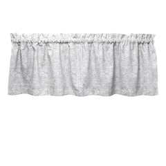 Tibet Mandalas Gray Cafe Valance - Straight Tailored Window Treatment