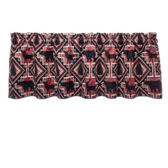 Woodlands Larston Brick Cafe Valance - Straight Tailored Valance