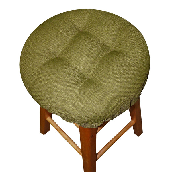 Rave Sage Green Bar Stool Cover with Adjustable Drawstring Yoke & Latex Foam Cushion - Barnett Home Decor