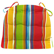 Westport Cabana Stripe Red Indoor/Outdoor Dining Chair Cushion | Barnett Home Decor | Red, Green Aqua, & Gold