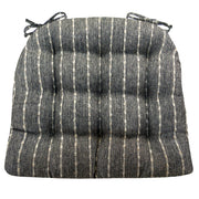 Avante Striped Black Dining Chair Pads - Barnett Home Décor