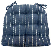 Avante Navy Blue Striped Dining Chair Pads - Barnett Home Décor