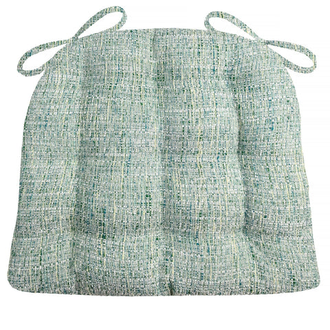 Brisbane Boucle Sea Glass Dining Chair Cushions - Barnett Home Decor - Blue & Green