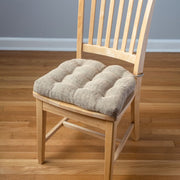 Brisbane Camel Tweed Dining Chair Pad - Barnett Home Decor - Beige & Wheat