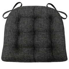 Brisbane Charcoal Black Dining Chair Cushions - Barnett Home Decor - Black