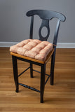 Brisbane Salsa Tweed Dining Chair Pad - Latex Foam Fill, Reversible
